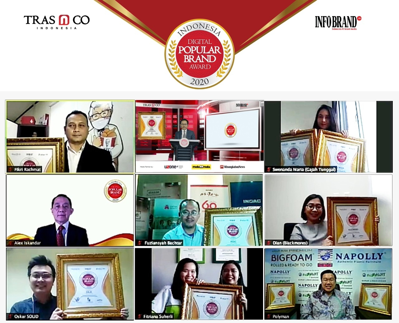 Merek-merek Jawara Indonesia Digital Popular Brand Award 2020 di Era New Normal